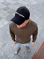 Мужская кепка бейсболка Champion черная стильная