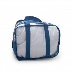 Набор из 3 прозрачных сумок в роддом для мамы и малыша Twins (S+M+L), синий
