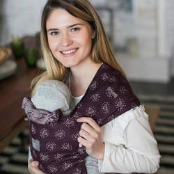 Май - слинг для новорожденных с зауженными концами ЛавТай Love & Carry Марсала, бордовый