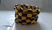Хомутик желтый в клеточку (теплый)