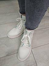 Ботинки демисезонные высокие Lonza 20122 36 Бежевые с зеленым кожа, фото 2