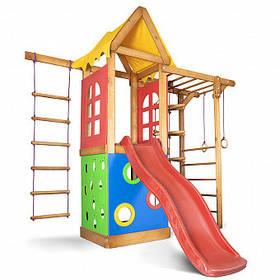 Дитячий спортивний дерев'яний майданчик Babyland-23, розмір 2.4х1.8 х 2.385м