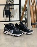 Кросівки чоловічі Nike REACT ELEMENT White logo Найк Реактив Елемент Білий логотип (41,43,44,45), фото 3