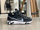 Кросівки чоловічі Nike REACT ELEMENT White logo Найк Реактив Елемент Білий логотип (41,43,44,45), фото 7