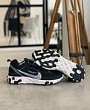 Кросівки чоловічі Nike REACT ELEMENT White logo Найк Реактив Елемент Білий логотип (41,43,44,45), фото 2