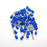Кабельный наконечник 2.5кв. трубчатый изолированный длина - 12 мм (Синий Е2512), фото 2
