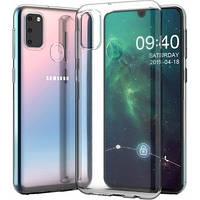 Прозрачный силиконовый чехол на Samsung M21 тонкий