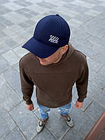 Чоловіча кепка бейсболка Off-White Оф Вайт синя