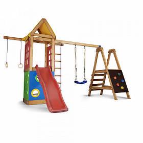 Дитячий спортивний дерев'яний майданчик Babyland-24, розмір 2.4х1.8 х 3.76м