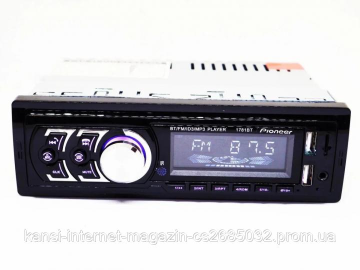 Автомагнітола 1DIN MP3 1781BT
