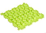 Коврик Ортодон Желудь салатовый, 1 элемент,25*25 см, Ортопедический массажный коврик, Пазлы детский,