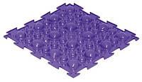 Коврик Ортодон Камни синие жетские, 1 элемент,25*25 см, Ортопедический массажный коврик, Пазлы детский,