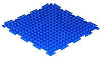 Коврик Ортодон Шипы синие мягкие, 1 элемент,25*25 см, Ортопедический массажный коврик, Пазлы детский,