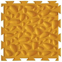 Коврик Ортодон Шишки желтые мягкие, 1 элемент,25*25 см, Ортопедический массажный коврик, Пазлы детский,