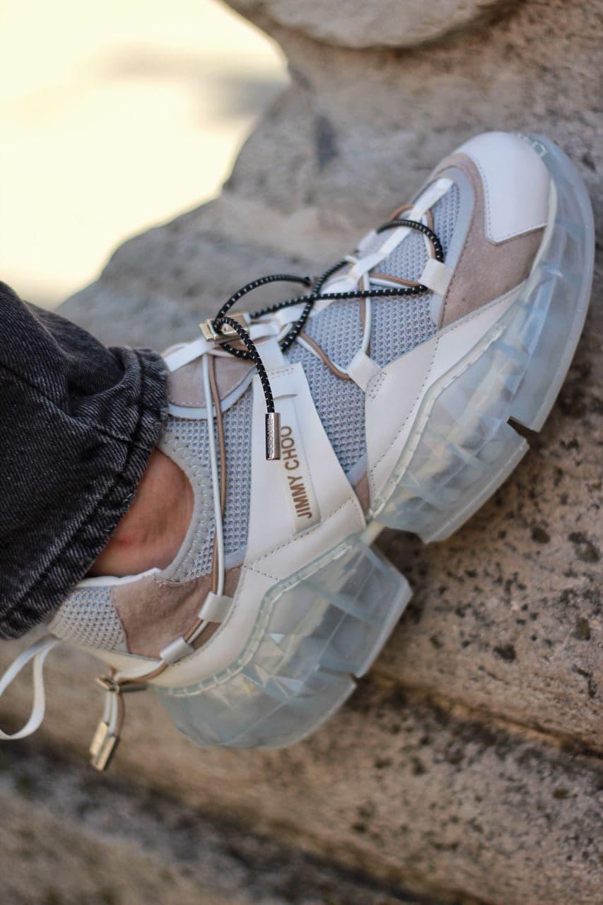 Жіночі кросівки Jimmy Choo grey/beige