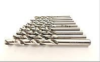 Набор сверл по металлу ц/х из 19-ти штук HSS от 1.0 до 10.0 полированная сталь SD-0119 INTERTOOL, фото 1