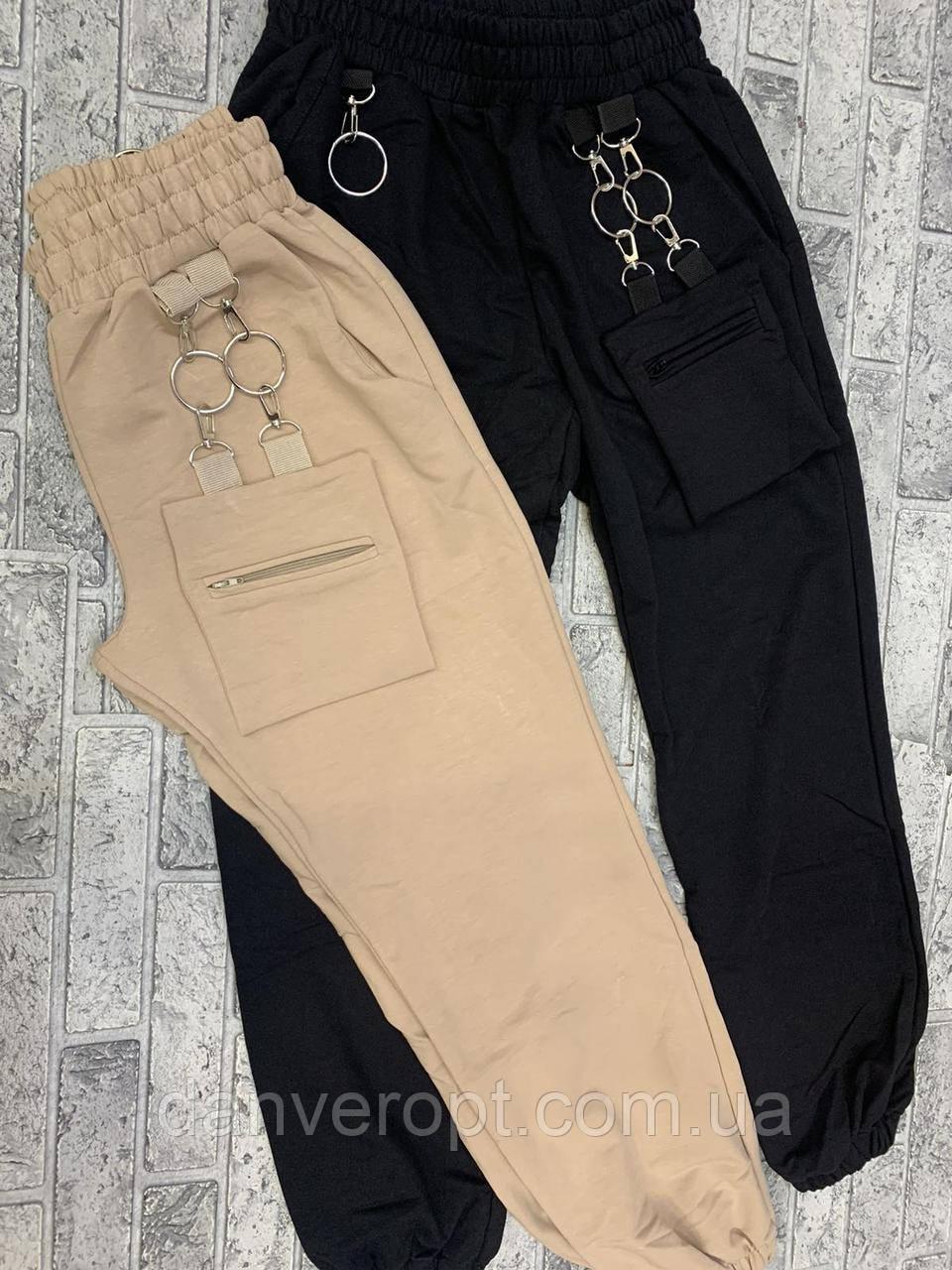 Штаны-джоггеры женские стильные модные размер S-L купить оптом со склада 7км Одесса