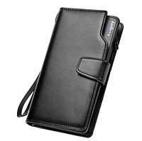 Мужской кошелек клатч Baellerry Business, портмоне, бумажник, барсетка, черный