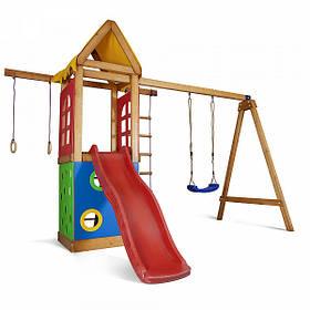 Дитячий спортивний дерев'яний майданчик Babyland-25, розмір 2.4х1.8 х 3.1м