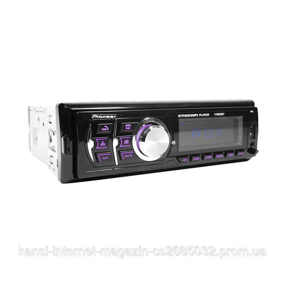 Автомагнітола MP3 1782DBT Bluetooth USB зі знімний панеллю
