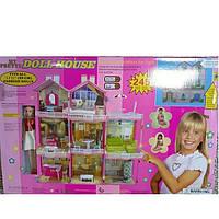 """Игровой домик для кукол 3 этажа большой кукольный домик с набором мебели """"My Pretty Doll House"""""""