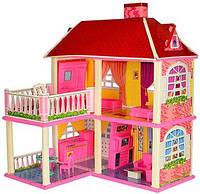 """Игровой кукольный домик с балконом """"My lovely villa"""" дом для кукол с набором мебели 2 этажа"""