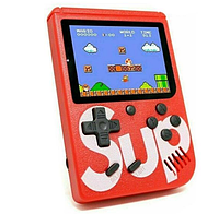 Портативная игровая приставка на 400 игр красного цвета для детей (Dendy Sega 8Bit Sup Game Box)