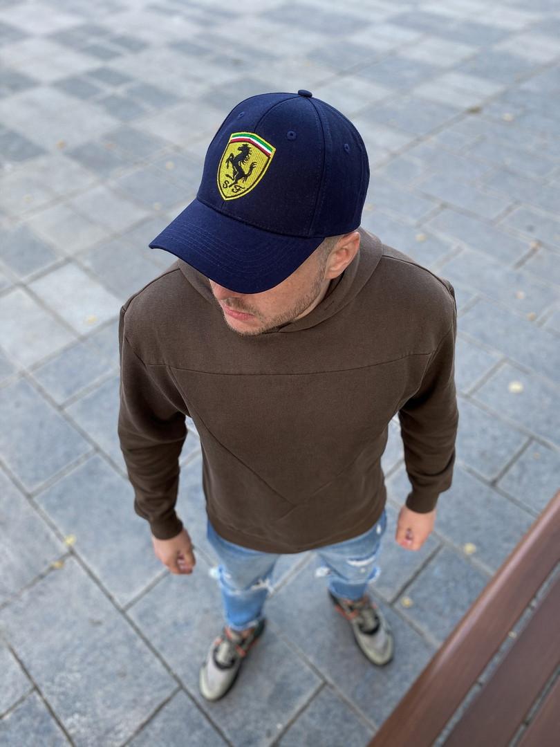 Чоловіча кепка бейсболка Ferrari Феррарі синя