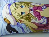 Подушка аниме ростовая 150 х 50 Кудрявка Номи Дакимакура  двухсторонняя для обнимания, фото 3