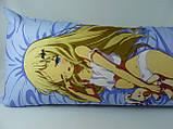 Подушка аниме ростовая 150 х 50 Кудрявка Номи Дакимакура  двухсторонняя для обнимания, фото 4