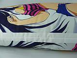 Подушка аниме ростовая 150 х 50 Куруми Эвисузава Дакимакура двухсторонняя для обнимания, фото 5