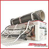 1.0 м² Теплый пол нагревательный мат Hemstedt DH 150 / 150 Вт / электрический тонкий  греющий мат под плитку