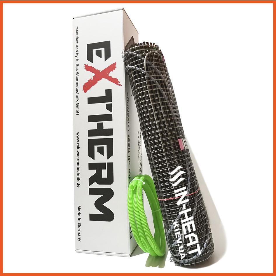 3 м². Греющий тонкий двужильный Нагревательный мат  EXTHERM ЕТ ECO / 540 Вт / теплый пол под плитку