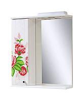 Зеркало для ванной 60-01 левое Декупаж