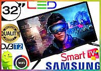 ТЕЛЕВИЗОР Самсунг Samsung 32 дюйма SMART TV FULL HD Wi-Fi с подставкой T2 телевізор 32 дюйма смарт тв андроид