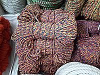 Мотузка для декору хб кольорова д. 10 мм, фото 1