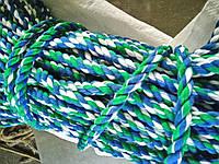 Мотузка для декору хб кольорова д. 16 мм