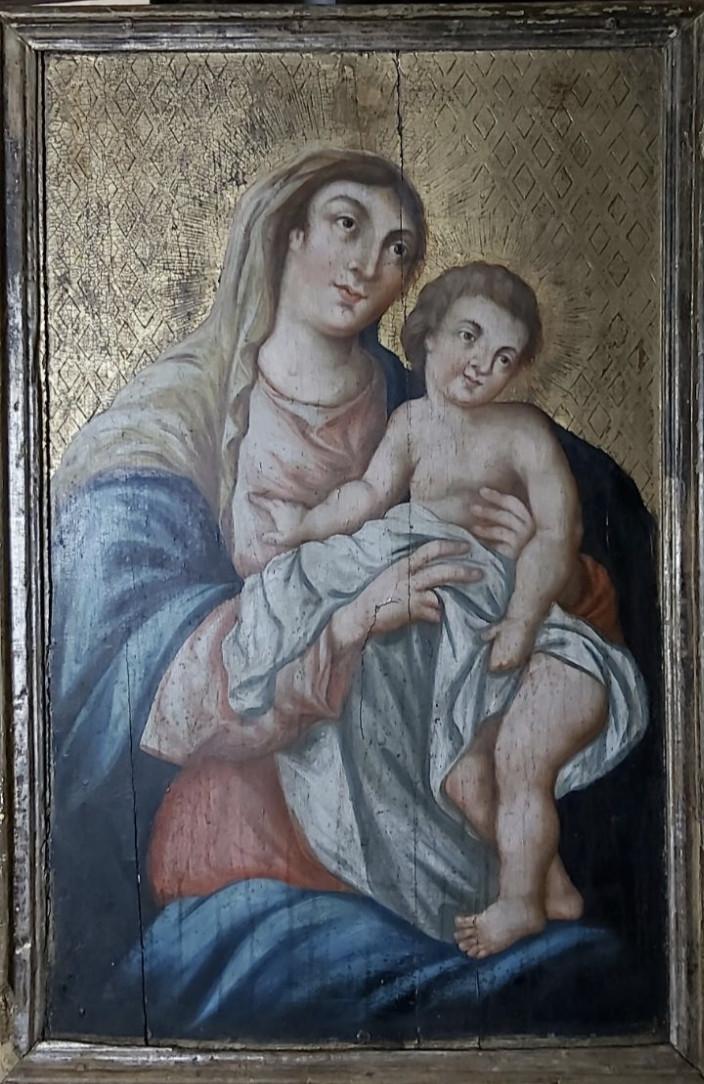 Икона Богородица с младенцем 18 век