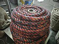 Мотузка для декору хб кольорова д. 22 мм