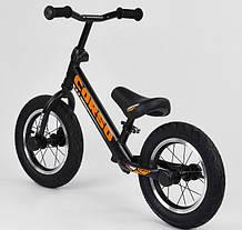 """Велобег Corso 69280 стальная рама. Надувные колеса 12"""". Алюминиевые диски. Черно-оранжевый, фото 3"""