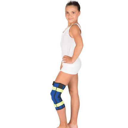 Бандаж на коленный сустав с металлическими шарнирами, Детский Тривес Т-8532, фото 2