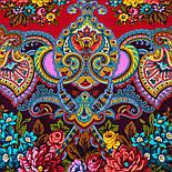 Майя 372-24, павлопосадский платок (шаль) из уплотненной шерсти с шелковой вязаной бахромой, фото 9