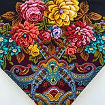 Майя 372-24, павлопосадский платок (шаль) из уплотненной шерсти с шелковой вязаной бахромой, фото 8