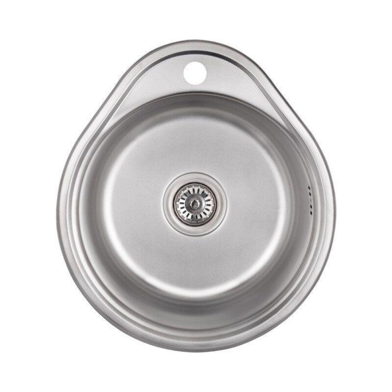 Раковина на кухню стальная прямоугольная LIDZ LIDZ4843DEC 430мм x 480мм микротекстура 0,8мм 61678