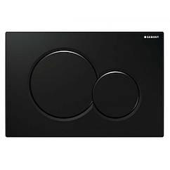 Кнопка для унитаза GEBERIT Sigma01 115.770.DW.5 горизонтальная двойная 246x164мм черный 67224