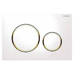 Кнопка слива для инсталляции GEBERIT SIGMA20 115.882.KK.1 горизонтальная двойная золотой 71325