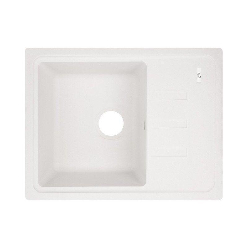 Мойка на кухню гранитная прямоугольная LIDZ 620x435 LIDZWHI01620435200 620мм x 435мм белый 61764