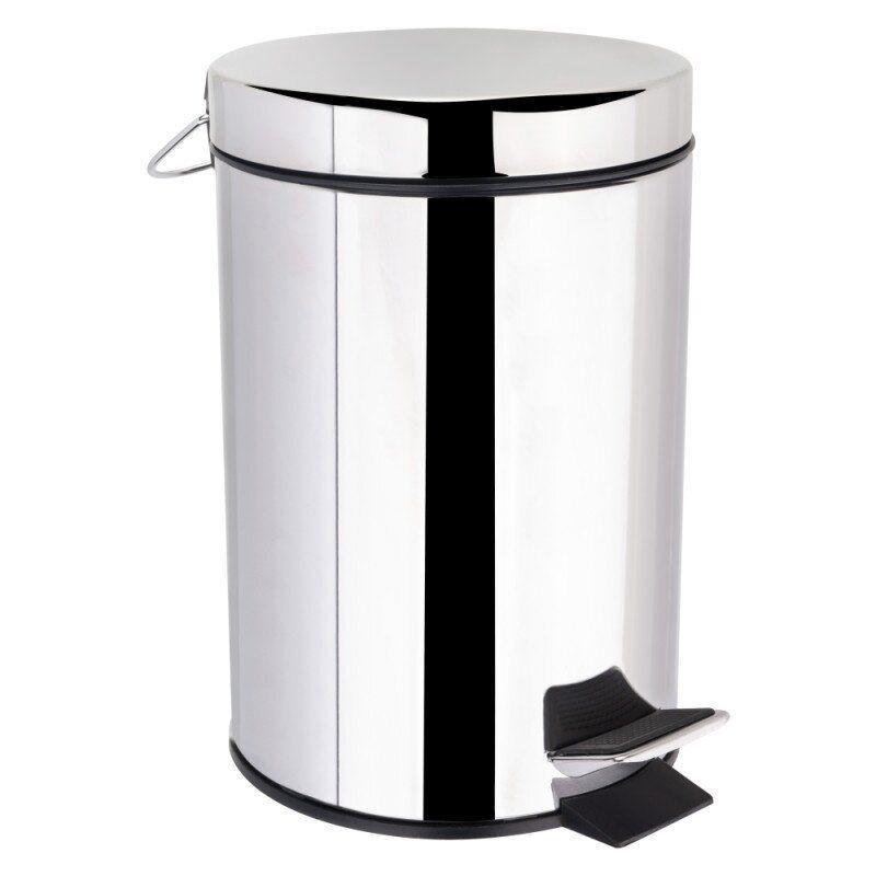 Корзина для мусора с крышкой и педалью для кухни LIDZ 121 LIDZCRM1210103 хром круглое 3л 76529