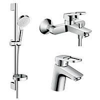 Набор смесителей в ванную HANSGROHE LOGIS LOOP 1042019 хром латунь 71780