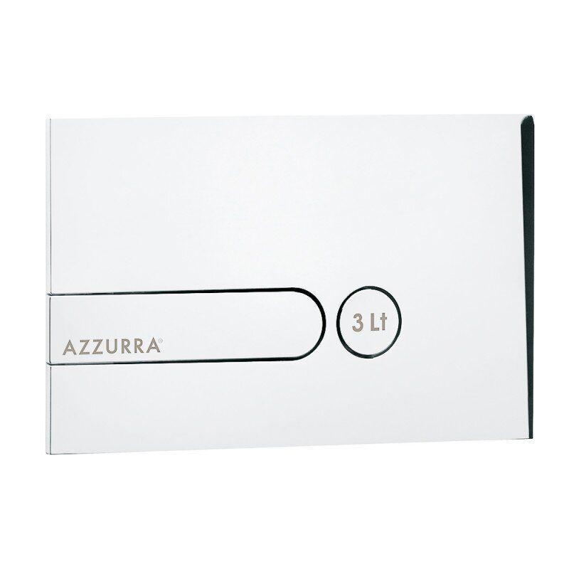 Кнопка для унитаза AZZURRA PL3 PL3LB горизонтальная двойная 150х235мм белый 74172